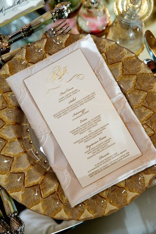 ivory-and-gilt-dinner-menu-with-couples-monogram
