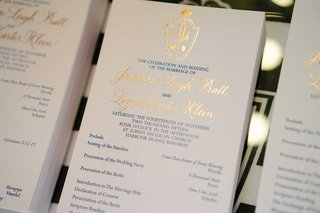navy-blue-and-gold-wedding-ceremony-program-church-with-list-of-events