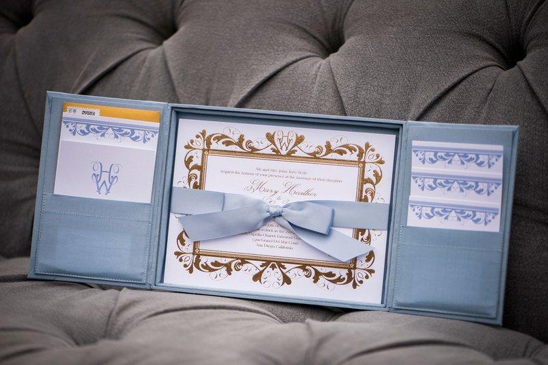 Pastel Blue Invitation Suite