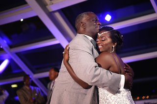 bride-in-a-spaghetti-strap-pnina-tornai-beaded-dress-dances-with-father-in-grey-suit
