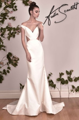 austin-scarlett-fall-2016-v-neck-wedding-dress-with-side-cutouts-and-off-the-shoulder-straps