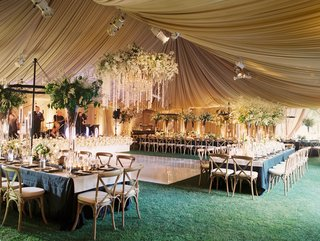 masculine-and-feminine-wedding-decor-example-flowers-neutral-colors-taupe-long-tables-dance-floor