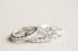 wedding-ring-eternity-band-pave-diamonds-around-band-round-solitaire-engagement-ring-four-prongs