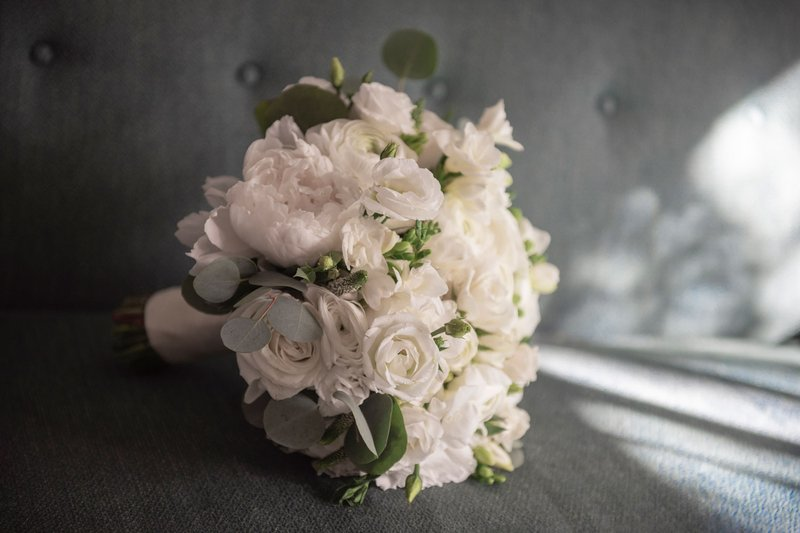 Bridal Bouquet of White Flowers