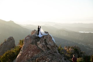 wedding location and venue portrait on mountain top santa monica california malibu vineyard rocky