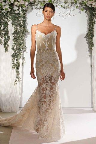 katerina-bocci-2017-bridal-collection-donna-wedding-dress-spaghetti-strap-mermaid-sheer-lace-skirt