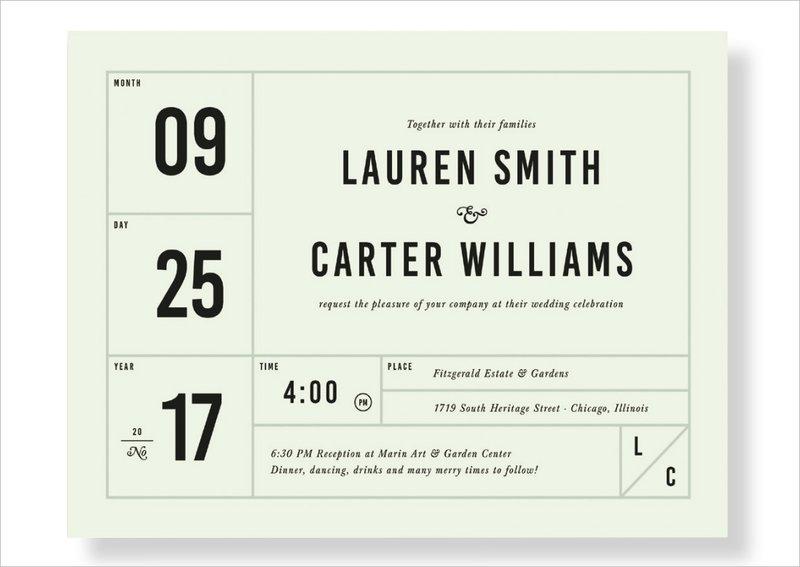 """It's a Date"" Invitation by Paper Culture"