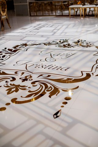 wedding reception four seasons hotel los angeles at beverly hills gold foil dance floor vinyl
