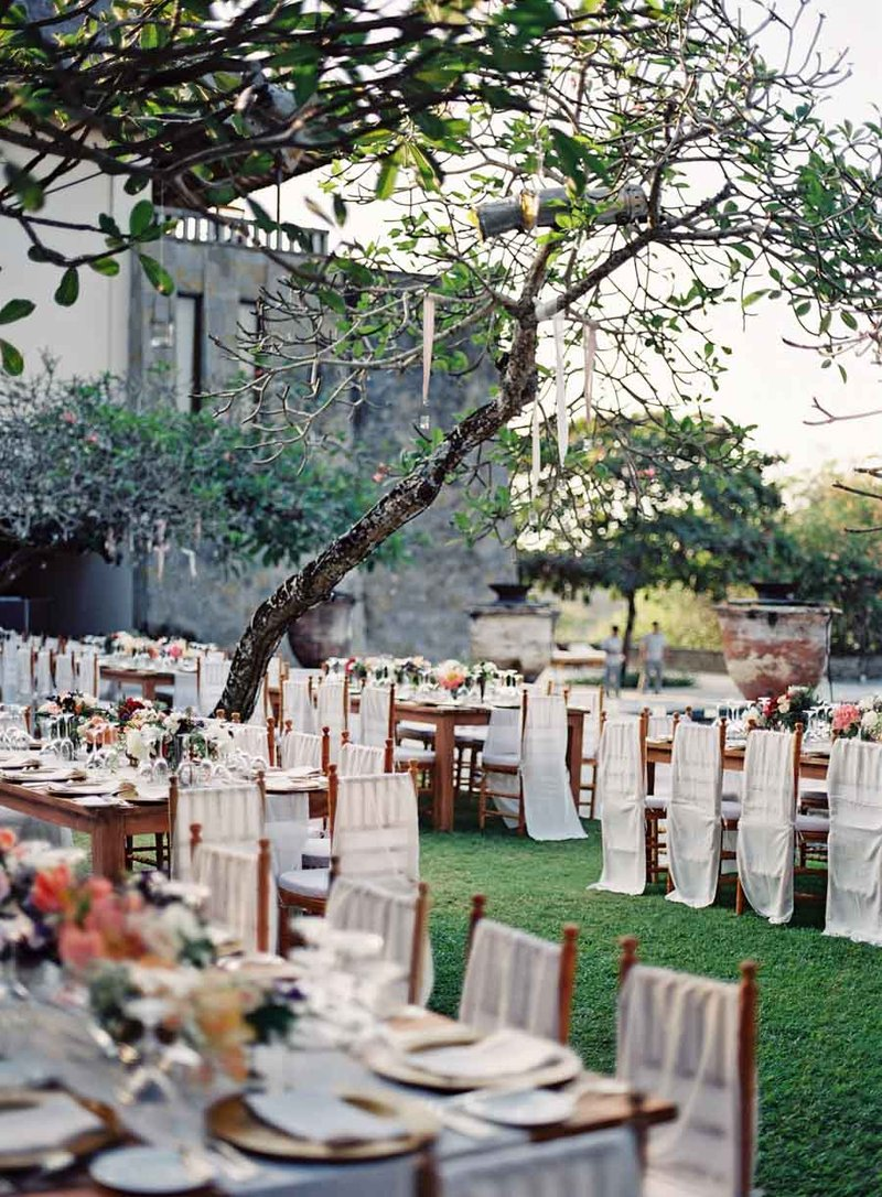 Outdoor Destination Wedding on Lawn