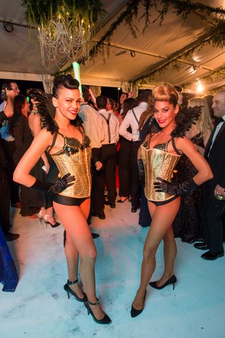 wedding-reception-cocktail-waitresses-in-gold-corsets-and-feathered-backs-costumed-servers