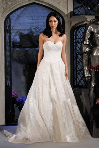 oleg-cassini-spring-2018-wedding-dress-strapless-ball-gown-a-line-beaded-lace-applique