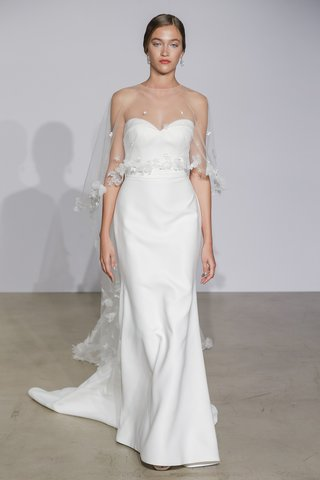 justin-alexander-fall-2018-satin-fit-and-flare-gown-with-folded-neckline-sheer-cape