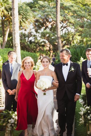 bride-in-j-mendel-wedding-dress-mother-of-the-bride-in-red-father-of-the-bride-in-tux-maui