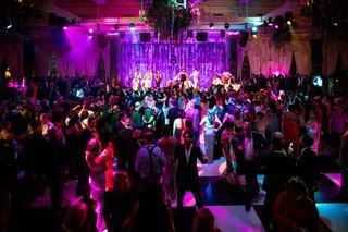 wedding-reception-black-and-white-checker-dance-floor-party-revelry-wedding-ideas