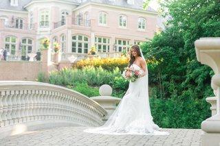 bride-in-vera-wang-lindsey-dress-and-vera-wang-veil-bridal-gown-with-ruffled-skirt