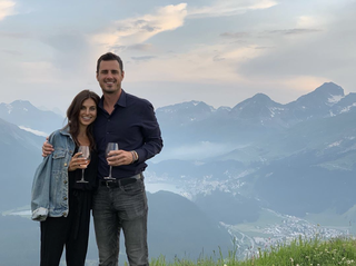 Ben Higgins and Jessica Clarke photo wine in switzerland ben instagram