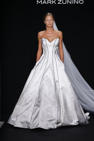 mark-zunino-for-kleinfeld-2016-strapless-satin-ball-gown-with-black-piping