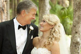 father-of-bride-in-tux-smiles-at-blonde-bride-to-be