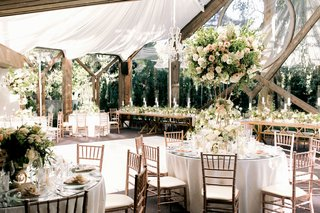Spring Wedding at Calamigos Ranch wedding reception rustic inside weddings spring 2020