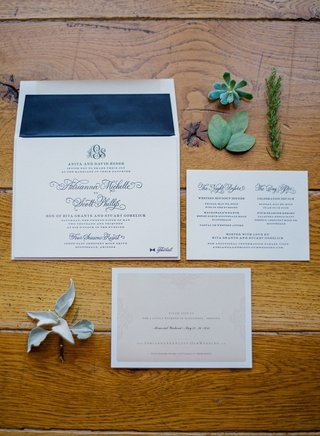 rustic-wedding-navy-blue-wedding-invite-with-succulents