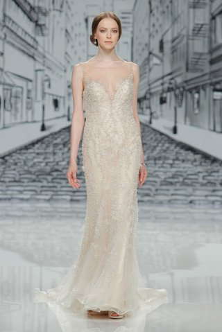 justin-alexander-spring-summer-2017-fit-and-flare-wedding-dress-with-beading-illusion-neckline-ivory