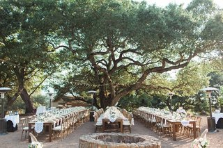 alfresco-winery-reception-wedding-venue-northern-california-kunde-estate-family-tables-lights-runner