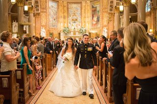bride-and-military-groom-recessional-in-new-york-city-church