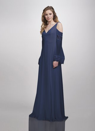 theia-bridesmaids-spring-2018-bridesmaid-gown-empire-waist-off-the-shoulder-lace-v-neck-denim-blue
