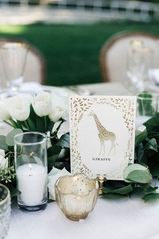 wedding-reception-jillian-murray-and-dean-geyer-tables-named-after-animals-gold-design