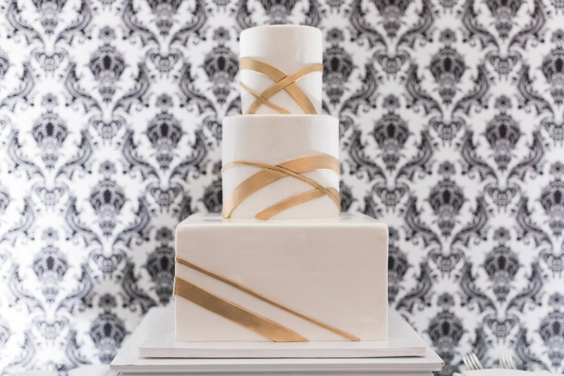 Modern Three-Tier Cake