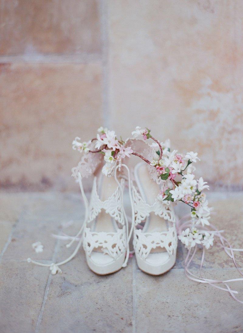 Unique Laser-Cut Bridal Shoes