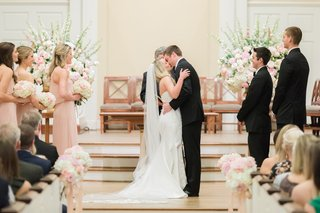 church-ceremony-bride-and-grooms-first-kiss-as-husband-and-wife