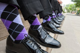 groomsmen-wearing-black-dress-shoes-and-purple-accessories
