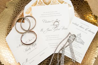 white-gold-grey-invitation-suite-with-drawing-of-reception-venue-gold-art-deco-style-envelope-liner