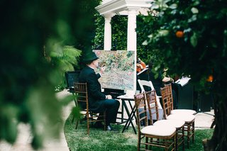 hotel-bel-air-wedding-ceremony-entertainment-man-painting-live-event-masterpiece