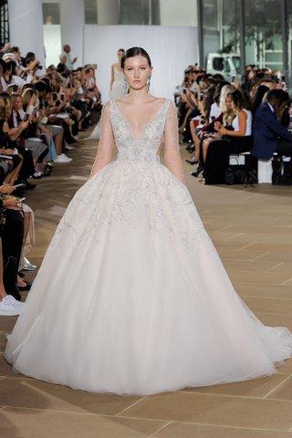 ines-di-santo-fall-2019-bridal-collection-wedding-dress-cordelia-v-neck-box-pleat-ball-gown-beading
