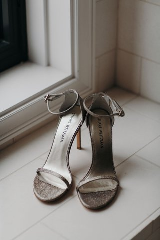suzanna-villarreal-and-alex-wood-la-dodgers-wedding-shoes-stuart-weitzman-strap-sandal-silver