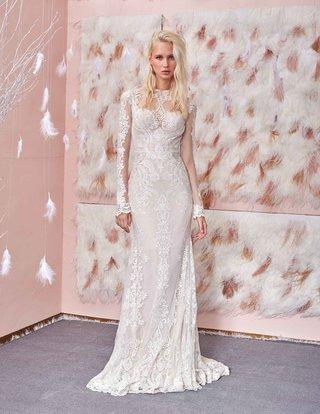 801-slim-fitted-mermaid-tight-long-sleeves-geometric-cutouts-ethnic-embroidery-gala-by-galia-lahav
