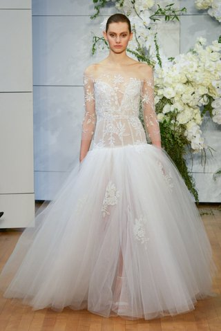 monique-lhuillier-spring-2018-bridal-collection-wedding-dress-yasmin-drop-waist-gown-lingerie-bodice