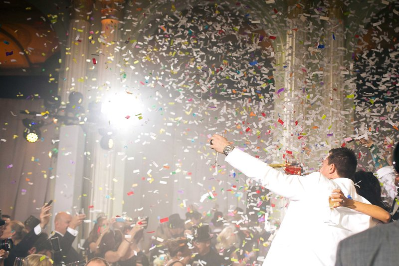 New Year's Eve Celebration with Confetti