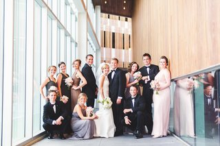 bridal-party-in-mismatched-dresses