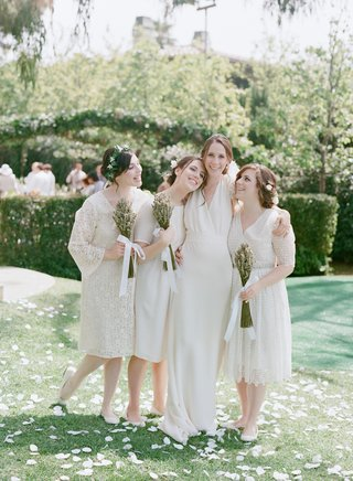white-mismatched-bridesmaid-dresses