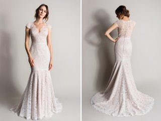 cap-sleeve-lace-wedding-dress-in-champagne