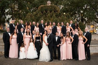 bridesmaids-in-blush-and-groomsmen-in-tuxedos