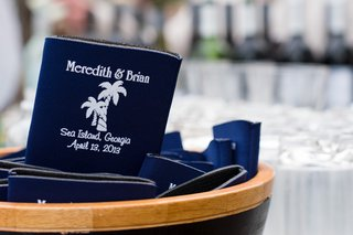 blue-beer-koozie-with-name-and-wedding-date