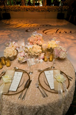 textured-linen-sweetheart-table-with-peonies-and-roses