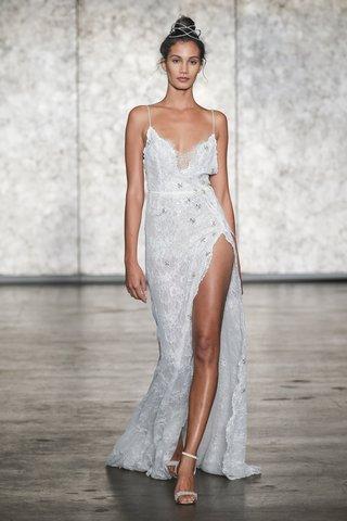 inbal-dror-fall-2018-spaghetti-strap-jeweled-lace-slip-dress-with-side-drape