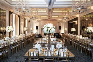 waldorf-astoria-chicago-reception-space-with-long-mirror-tables-for-guests