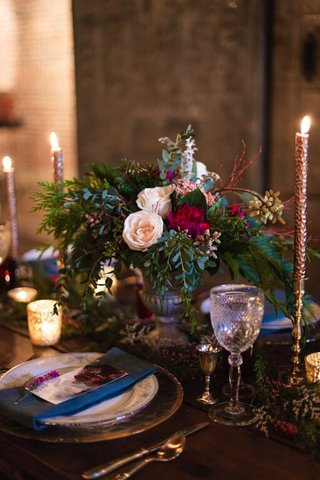 marsala-flower-centerpiece-at-wedding-reception