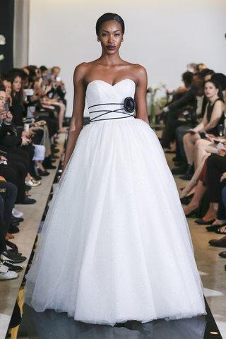 justin-alexander-spring-2018-sparkle-tulle-ball-gown-black-velvet-belt-designer-wedding-dress
